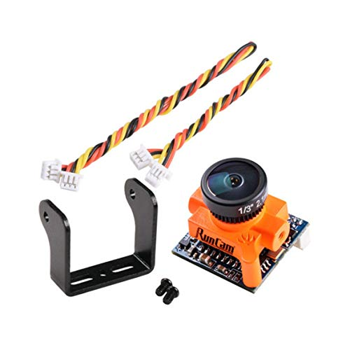 Pandamama RunCam Micro Swift 600TVL 2.3mm IR Blocked 1/3 CCD FPV Camera PAL Format 5.8g for FPV Racer Quadcopter KSX3068 ()