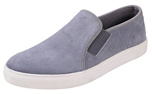 Francis Shoe - Urban Fox Men's Francis Slip-On Fashion Sneakers | Slip On Shoes Men | Mens Sneakers | Suede Shoes | Grey 11