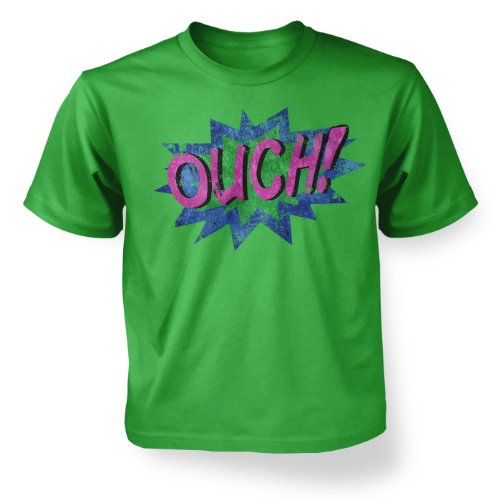 Ouch! Kids T-shirt - Irish Green S (5-6) ()