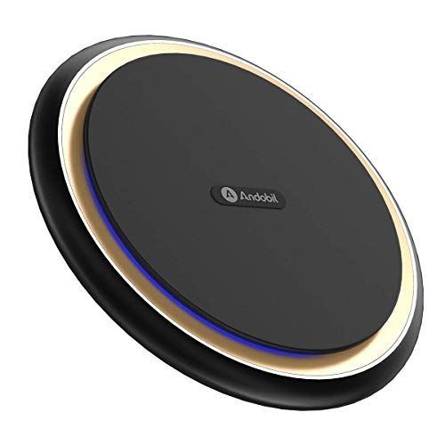 (Andobil Boost 15W Fast Wireless Charger, USB-C Qi Certified Aluminum Alloy Cooling Charging Pad Station Compatible iPhone Xs Max/XS/XR/X/8/8+/New Airpods 2.0,Samsung Galaxy S10/S10+/S10e/S9/S9+/S8/S8+)