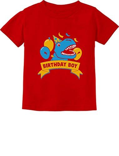 (Gift for Birthday Boy Dinosaur Raptor T-Rex Boy Toddler/Infant Kids T-Shirt 5/6)