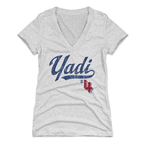 500 LEVEL Yadier Molina Women's V-Neck Shirt XX-Large Tri Ash - St. Louis Baseball Women's Apparel - Yadier Molina Players Weekend B