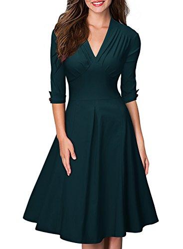 Miusol Womens Deep V Sleeve Vintage