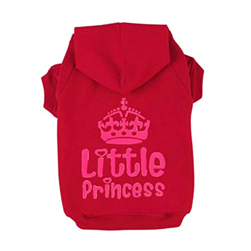 shine-hearty Pet Clothes Puppy Dog Cat Coat Jacket Hoodie Sweater T-Shirt Winter Clothing for Small Size Dogs,Red,XXXL