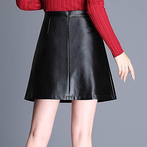 Cuir FS7807 Girl Noir PU Club E Jupe Taille Mini Ajoure Grande 58d1qOnW