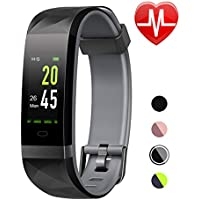 LETSCOM Fitness Tracker HR Color Screen, Heart Rate...