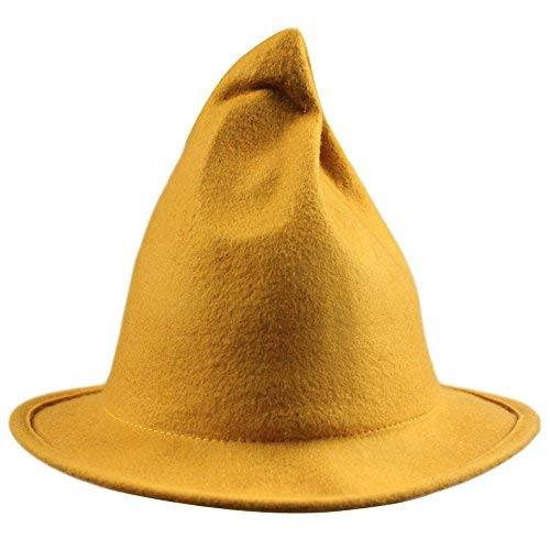 Man In The Yellow Suit Curious George (Womens Wool Sharp Pointed Halloween Christmas Costume Party Witch Top Hat Cap)