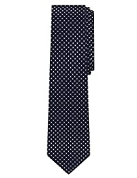 Jacob Alexander Polka Dot Print Boys Regular Polka Dotted Tie - Navy