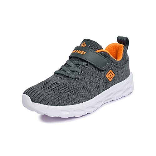- DREAM PAIRS Boys KD18001K Lightweight Breathable Running Athletic Sneakers Shoes Grey Orange, Size 10 M US Toddler