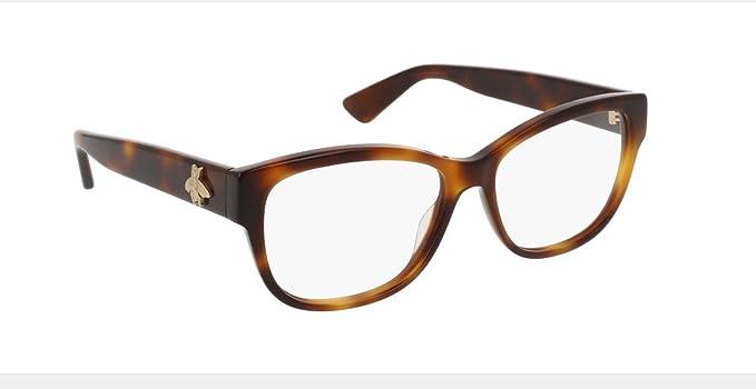 6da30010193 Amazon.com  Eyeglasses Gucci GG 0098 O- 002 AVANA    Clothing
