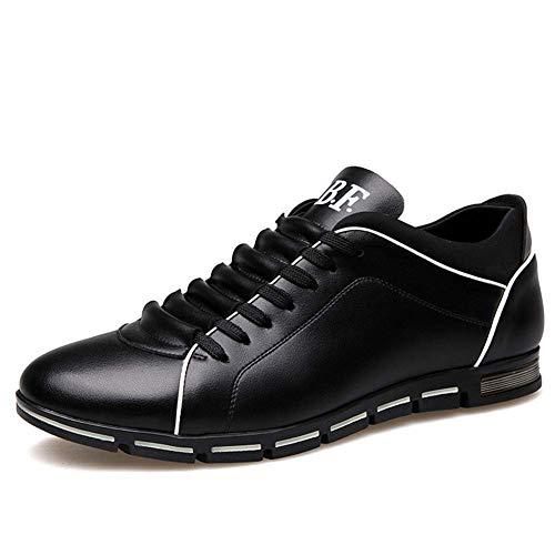 Scarpe Uomo Pelle Stringate Basse Oxford Derby Business Casual Scarpe da Skateboard Ginnastica Corsa Sneakers Sportive Marrone Nero Blu 38-48 Nero