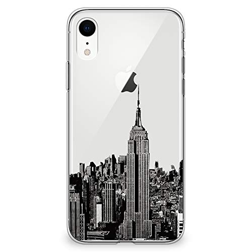 (CasesByLorraine iPhone XR Case 6.1 inch, New York City View Clear Transparent Case NYC Flexible TPU Soft Gel Protective Cover for Apple iPhone XR (2018))