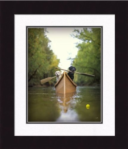 Ron Schmidt Framed Photograph - Canoe by Frames Plus