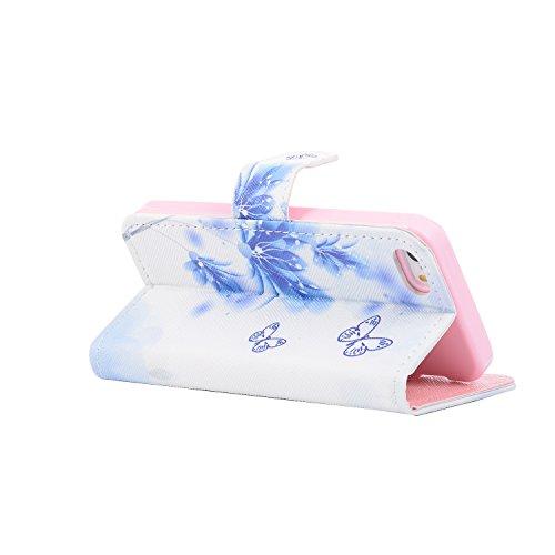 Funda Case iPhone 5/5S/SE silicona,Ukayfe Carcasa Espejo iPhone 5/5S/SE Mirror Case,Ultra fina de Tpu funda de silicona espejo brillante Cover Case, brillantes cristal Bling Gliter Espejo �?Carcasa de fiori farfalla