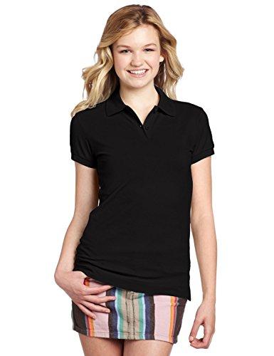 Dickies Girl Juniors Short Sleeve 2 Button Pique -
