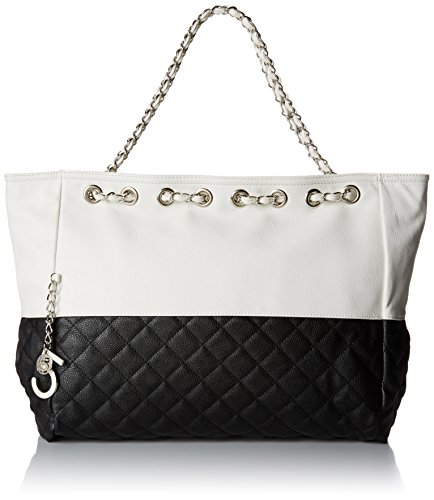 MG Collection Camryn Quilted Oversized Hobo Black One Size