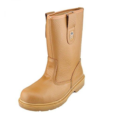 Footwear arbeiten Honig Knöchel Händler chelsea slip toe Kick Stahl Sicherheit Groundwork Stiefel an Herren ziehen gxanwdCq