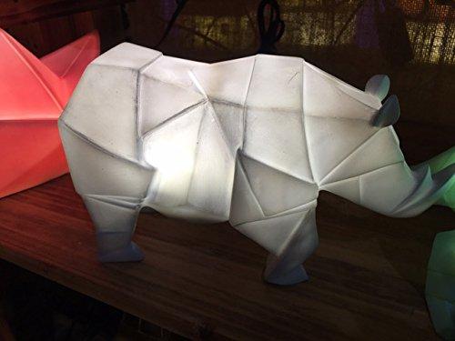 Children's Rhino Night Light Bedroom Tabletop Lamp - Gray