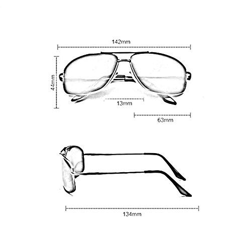 Moda Conducción Frame Black Resistente UV Decorativo frame a Gafas Honey de de Color Hombres Gafas para de de Black Sunny Sol Rayos Pesca Polarizado los qBX486w