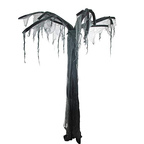 NORTHLIGHT AR82613 7.5' Black and Gray Spooky Ghost -