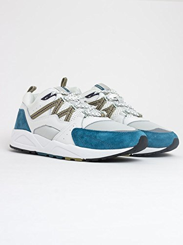 Karhu Men's Fusion 2.0 White Leather and Nylon Sneaker with Light-Blue Suede Multicolour visa payment for sale discount shopping online best seller cheap price discount best seller 3T8rQps
