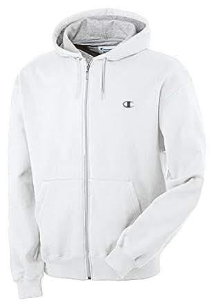 CHAMPION Eco Fleece Full-Zip Men's Hoodie - S2468 - White, 3XL