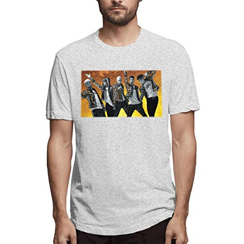 Kinggo Mens Customized \r\nBreathable CNCO World Tour 2019 at House of Blues Short Sleeve Cool T-Shirt Gray 3XL