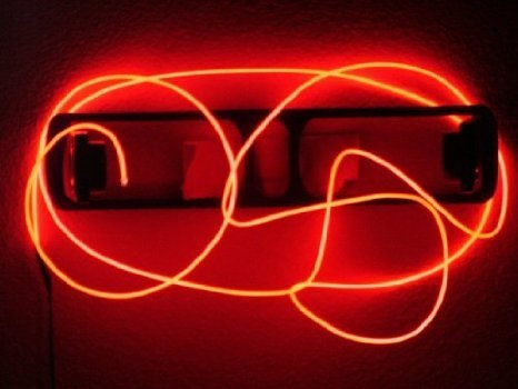 9ft Red Neon Glowing Strobing Electro Luminescent Wire (EL Wire ...