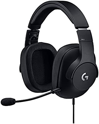 Amazon Com Logitech G Pro Gaming Headset With Pro Grade Mic For Pc Pc Vr Mac Xbox One Playstation 4 Nintendo Switch Computers Accessories