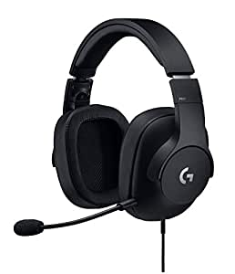 Logitech G Pro Gaming Headset with Pro Grade Mic ForPc, PC VR, Mac, Xbox One, Playstation 4, Nintendo Switch - 981-000719
