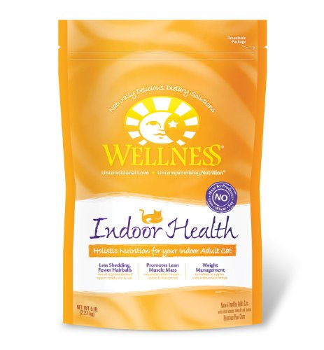 Wellness Indoor Health Adult Cat Food Bag, 5-Pound, My Pet Supplies