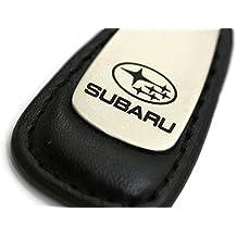 Subaru Leather Key Chain Black Tear Drop Key Ring Fob Lanyard WRX Sti by DanteGTS