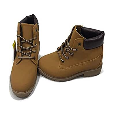 Bobbie Brooks Women's Ankle High Combat Hiking Boots Size 10 Women Work Boots Tan