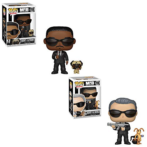 Funko POP! Movies: Agent J and Frank and Agent K and Neeble Toy Action Figure - 2 POP Bundle -