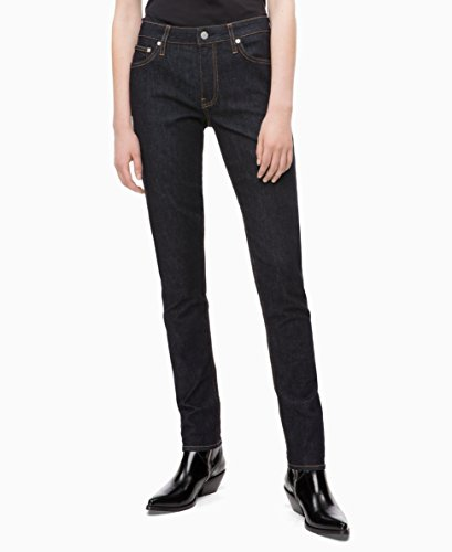 Calvin Klein Women's Mid Rise Slim Fit Jeans, Hamptons rinse, 25X28