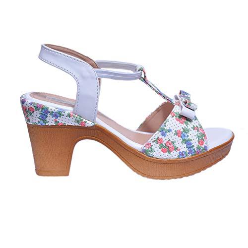 Star Step Women White Wedges  Heels