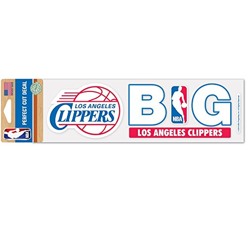 WinCraft Los Angeles Clippers Official NBA 3 inch x 10 inch Die Cut Car Decal by 408914 ()