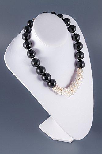 Bella-Collier de perles et agate noire