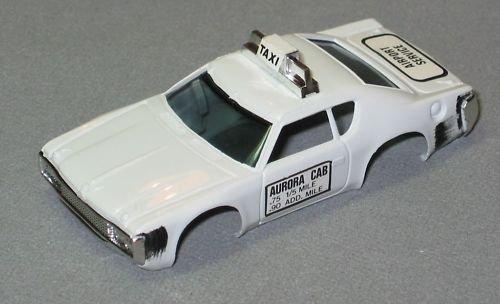 AURORA HO MATADOR TAXI SLOT CAR BODY white -  Aurora Slot Cars, AURB1939W