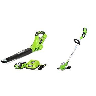 GreenWorks G-MAX 40V Cordless Blower and String Trimmer