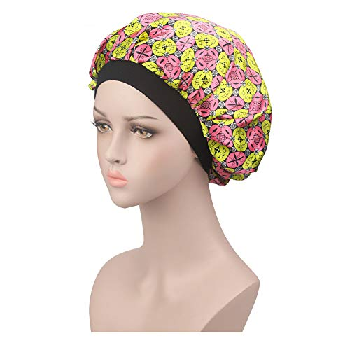 Hat for Women for Church,Women's Satin Solid Wide-Brimmed Hair Band Sleep Cap Chemotherapy Hat Hair Cap,Running Waist Packs,J,One ()