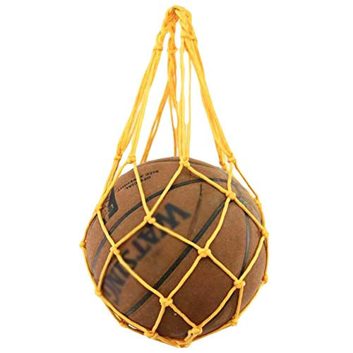 George Jimmy Training Volleyball Football Storage Yellow Basketball Net Mesh Bag by George Jimmy