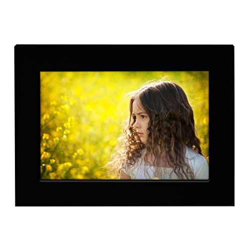 - BOJIN 5x7 Inch Wooden Picture Frame for Tabletop and Desktop Wood Photo Frame with Non Glass Front-Black