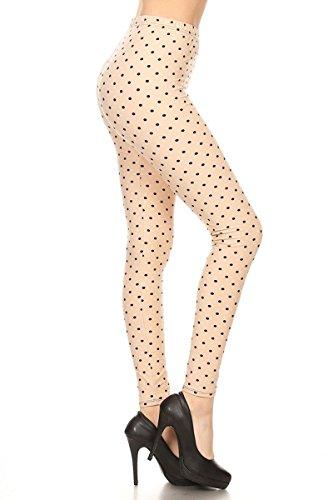 R986-OS Polka Dot Sugar Print Fashion Leggings