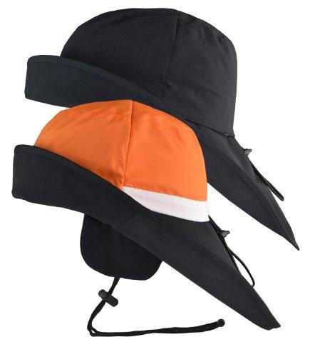 Südwester Wendekopf Schwarz-Orange, L