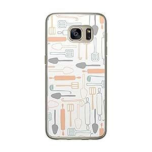 Loud Universe Samsung Galaxy S7 Bakery Kitchen 2 Printed Transparent Edge Case - White