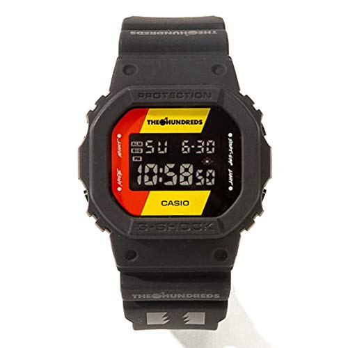 G-Shock Mens Casio x The Hundreds Special Edition Digital Resin DW5600HDR-1 Watch Black ()