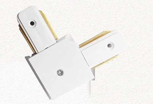 Lamp Base - Two-line rail joint 110V 230V track spotlight led spotlight thick aluminum track light 2-wire track Parts 10PCs/Lot - (Color: LC-TSP-X-White)