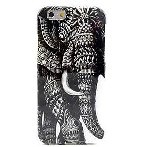 GX Modelo retro del elefante TPU caso suave para el iPhone 6 Plus