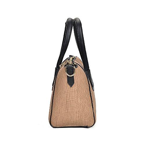 A Nero Cachi Donna Tote Brosa In Bag Zip Pelle Borsa Tracolla Donna Casuale Innerternet borsa Ozx6nq4ww